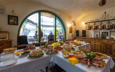 Cucina tipica carnica all'agriturismo Naunal di Sutrio