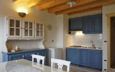 Appartamento con sala e cucina agriturismo Naunal